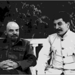 Vladimir Lenin with Joseph Stalin at the Kremlin in 1922