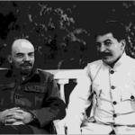 Vladimir Lenin with Joseph Stalin at the Kremlin in 1922