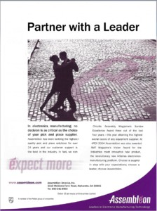 Assembleon Partner with a Leader Ad